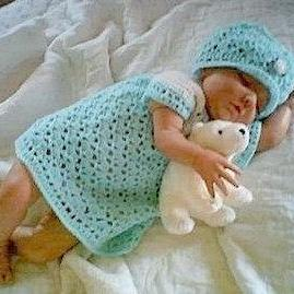 Crochet Pattern Baby Dress and Flap..