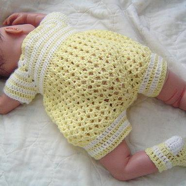 Free Crochet Pattern For Baby Boy Romper ~ Dancox for .