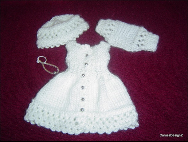 0046 4PC Little Darlings Miniature Knitting And Crochet ...