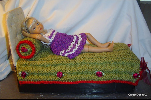 Knitting Patterns For Dolls Bedding : Doll Bedding 2PC Knit And Crochet Set 12 Inch To 14 Inch Dolls 0051 on Luulla