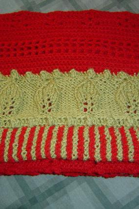 REDUCED Fireside Afghan / Blanket Throw 50x70 Hand Crochet Knit by CarussDesignZ