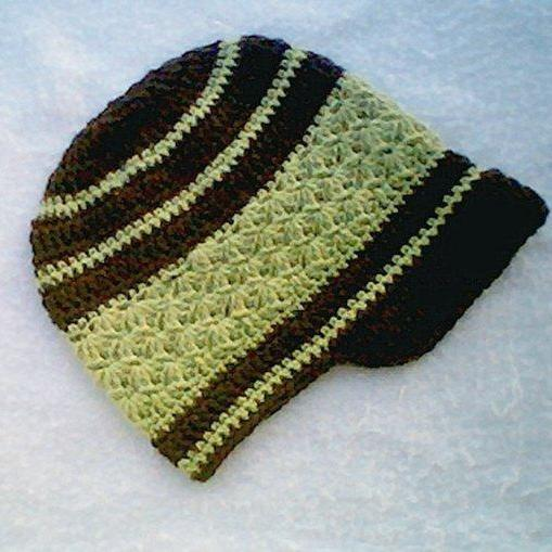 Mens Falling Leaves Visor Crochet Pattern 0008